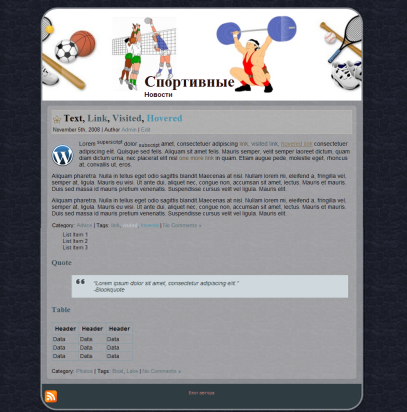 ginnaste2 шаблон на wordpress