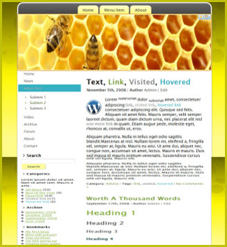 еда - тема на wordpress abeja